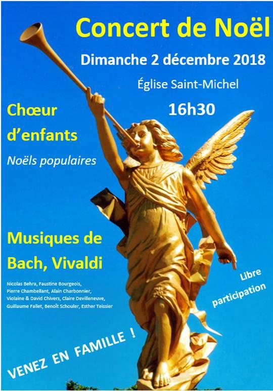 Concert dimanche 2 décembre 16h30 à St Michel, Versailles (78).