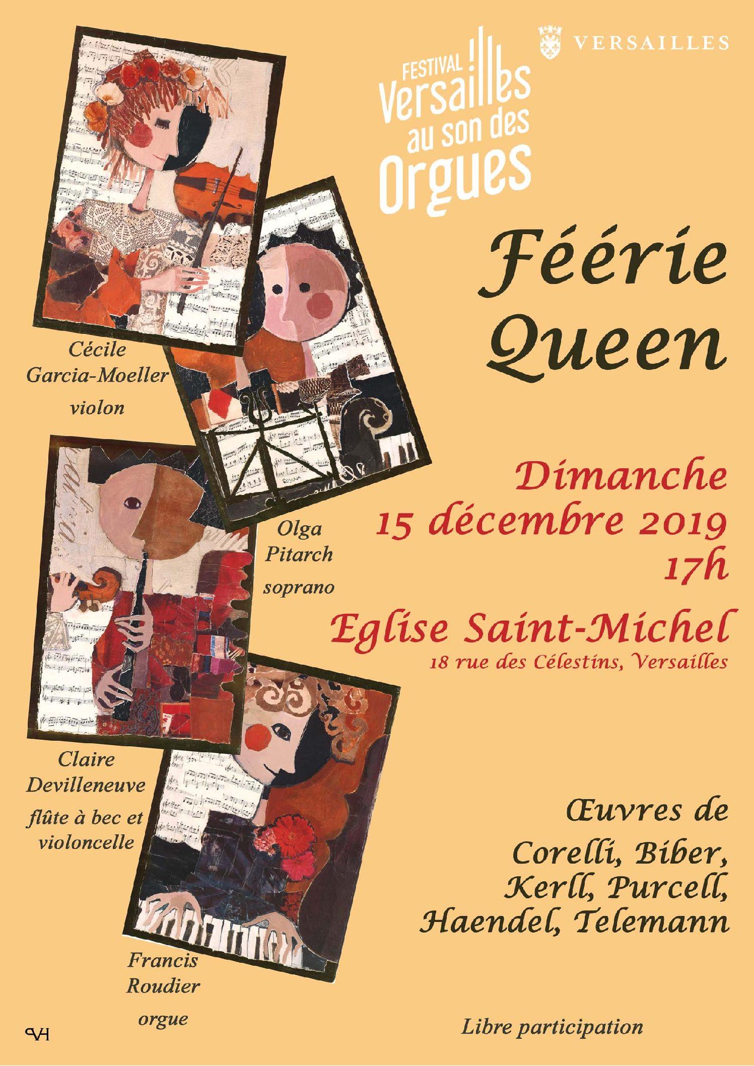 Concert le dimanche 15 décembre, 17h à Versailles.